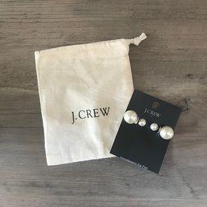 J. Crew pearl stud earrings
